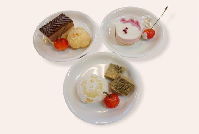 洋菓子と和菓子の盛り合わせ