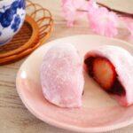 桜の花といちご大福